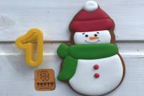 Пряник имбирный Снеговик №1 Тесто