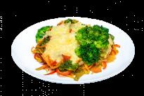 Гратен овощной с острым и сладким перцем